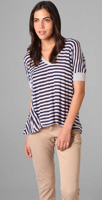Splendid Mini Rugby Stripe Oversized Tee