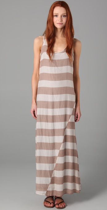 Splendid Wide Rugby Stripe Maxi Dress
