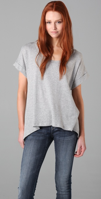 Splendid Drapey Heather Top