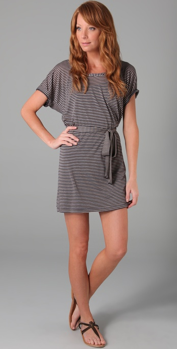 Splendid Skinny Navy Stripe Dress