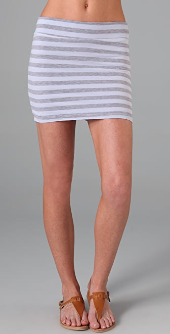 Splendid Striped Layers Miniskirt