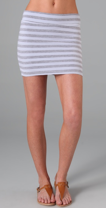 Splendid Striped Layers Miniskirt