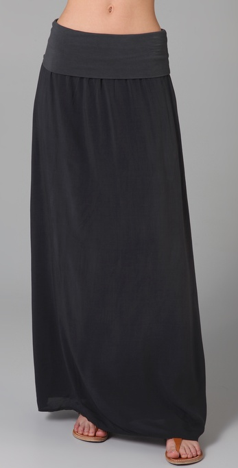 Splendid Jersey & Voile Maxi Skirt / Dress