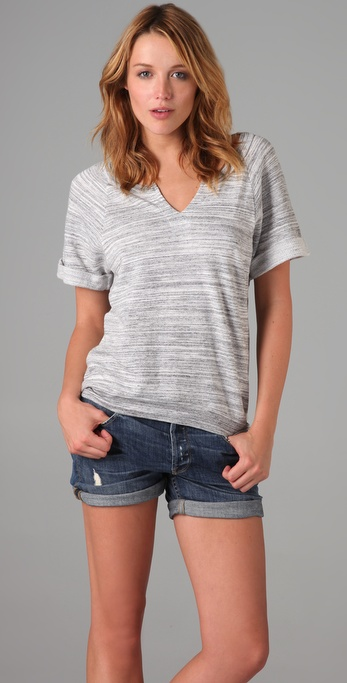 Splendid Charcoal Space Dye Top