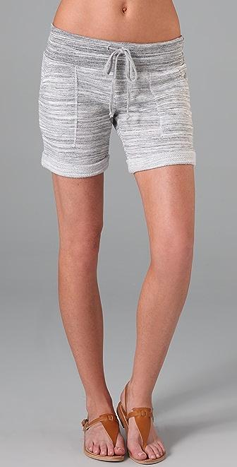 Splendid Charcoal Space Dye Shorts