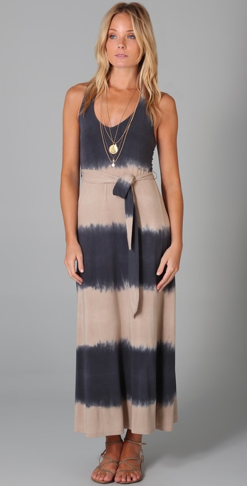 Splendid Tie Dye Stripe Maxi Dress