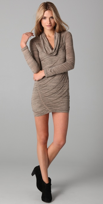 Splendid Charcoal Heather Cowl Dress