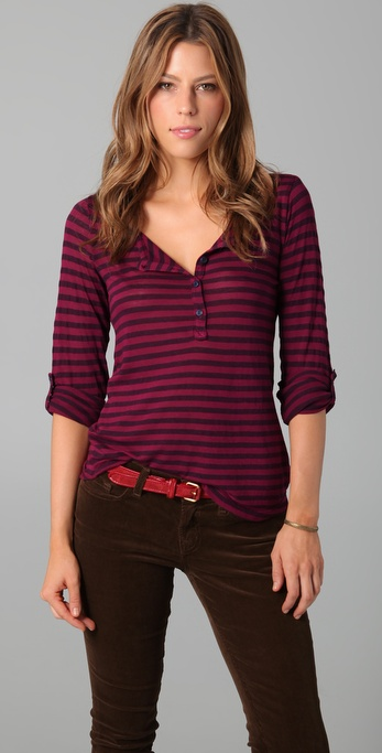Splendid Triblend Striped Henley