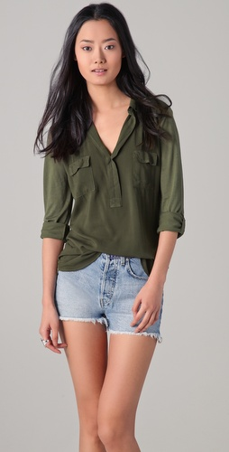 Splendid Pocket Blouse