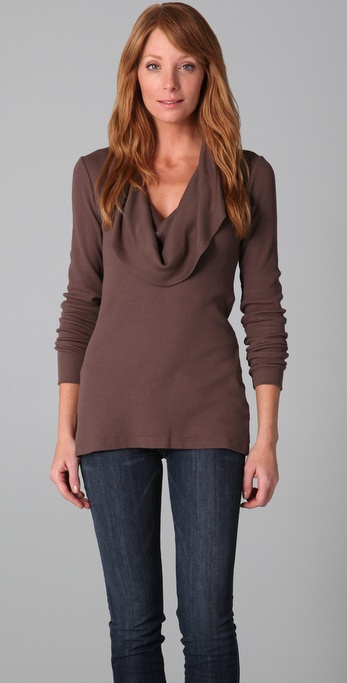Splendid Cowl Neck Thermal Top