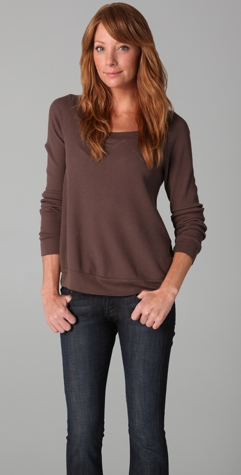 Splendid Thermal Pullover Top