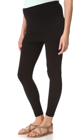 Splendid Maternity Fit Fold Over Leggings