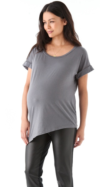 Splendid Maternity Fit Asymmetrical Tee