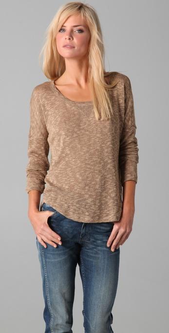 Splendid Melange Loose Knit Sweater