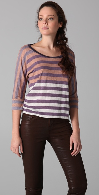 Splendid Gradient Stripe Tee