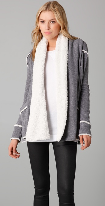 Splendid Sherpa Fleece Cardigan