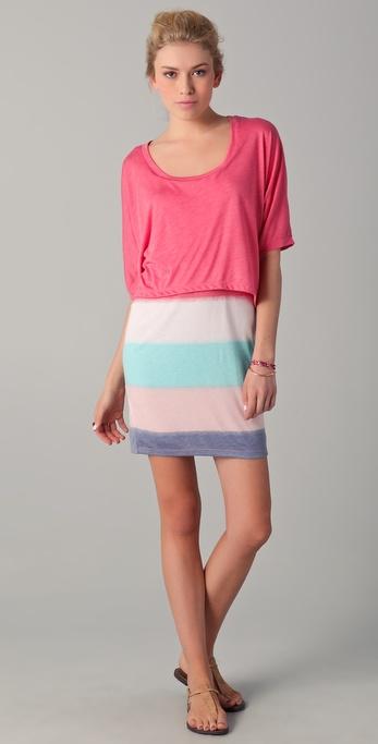 Splendid Mirage Stripe Layered Dress