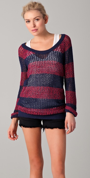 Splendid Salt Lake Striped Sweater