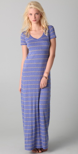 Splendid Nutmeg Stripe Maxi Dress