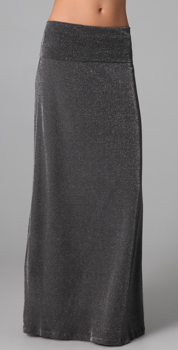 Splendid Lurex Maxi Skirt