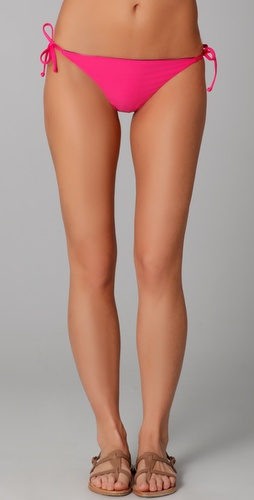 Splendid Bayside Solid Tie Side Bikini Bottoms