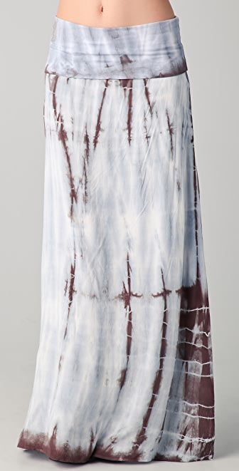 Splendid Feather Dye Maxi Skirt