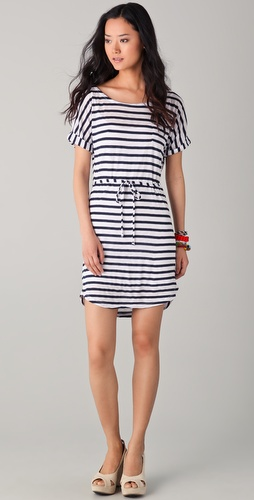 Splendid Stripe Tie Waist Dress