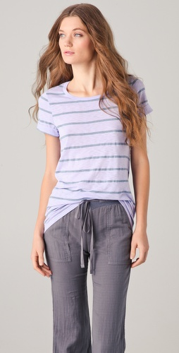 Splendid Chambray Stripe Tee