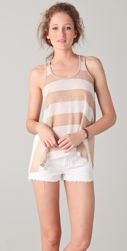 Splendid Almond Stripe Tank