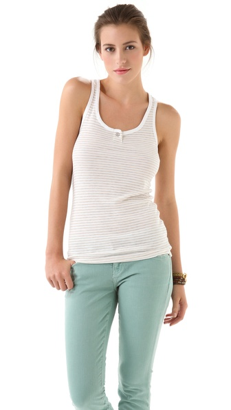 Splendid Oatmeal Stripe 1x1 Tank