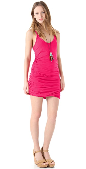 Splendid Ruched Racer Back Dress