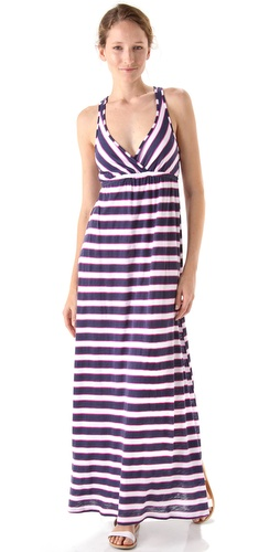 Splendid Scarf Stripes Maxi Dress