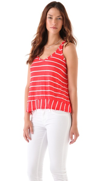 Splendid White Venice Stripe Tank
