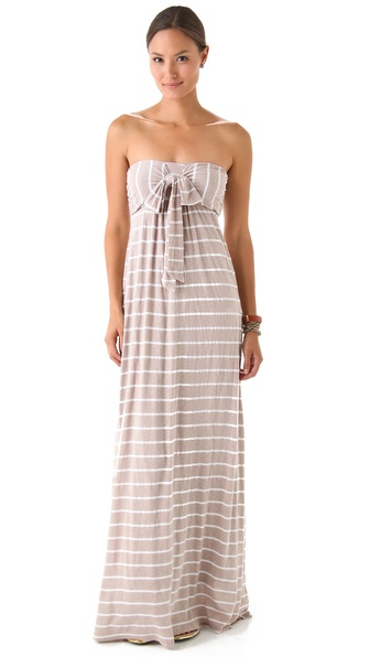 Splendid White Venice Stripe Maxi Dress