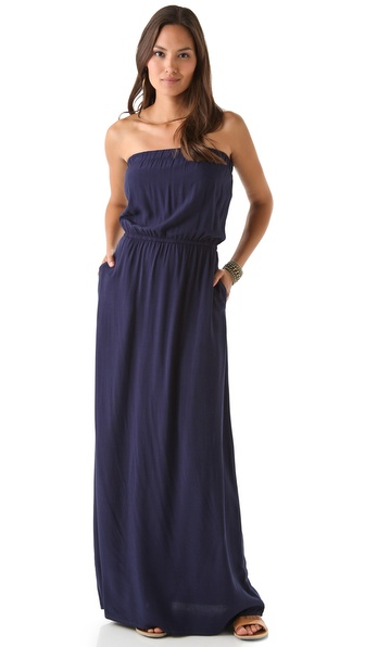 Splendid Strapless Maxi Dress