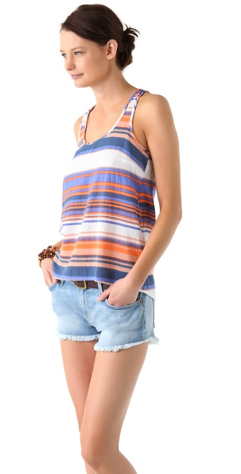 Splendid Coastal Stripe Racer Back Tank