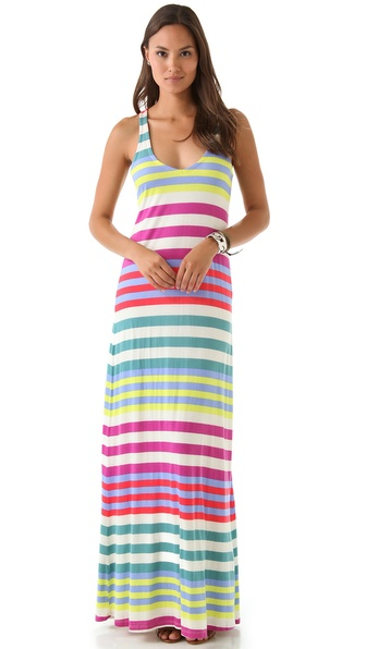 Splendid Tropical Stripe Maxi Dress