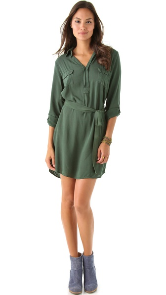 Splendid V Neck Shirtdress