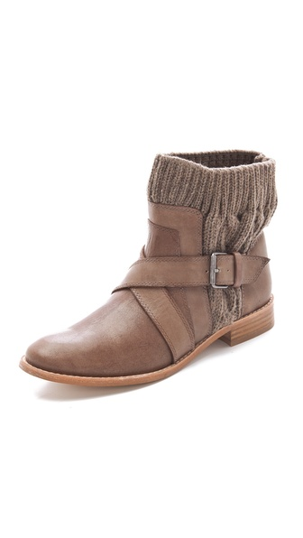 Splendid Toronto Wrap Strap Knit Booties