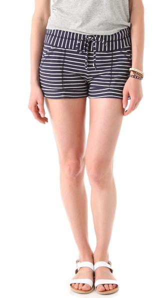 Splendid Mini Breton Stripe Shorts