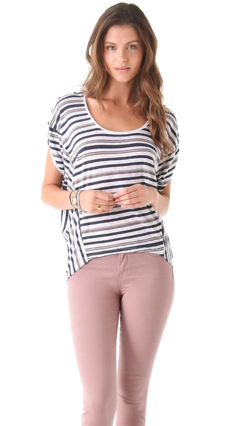Splendid Capeside Striped Blouse