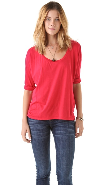 Splendid Very Light Boat Neck Tee