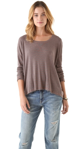 Splendid Mini Stripe Thermal Top