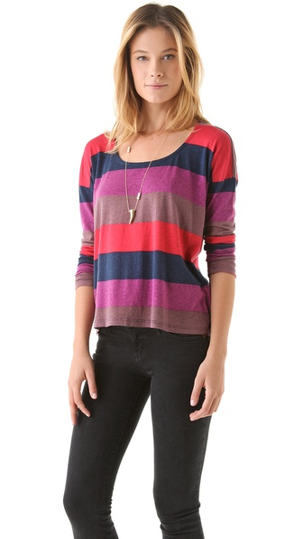 Splendid Colorblock Rugby Top