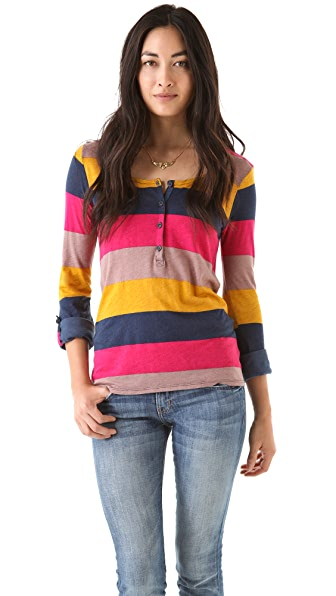 Splendid Color Block Rugby Henley