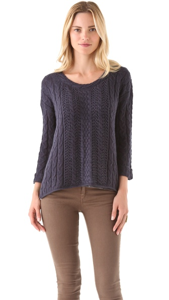 Splendid Tahoe Cable Knit Sweater