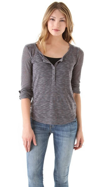 Splendid Loose Knit Henley