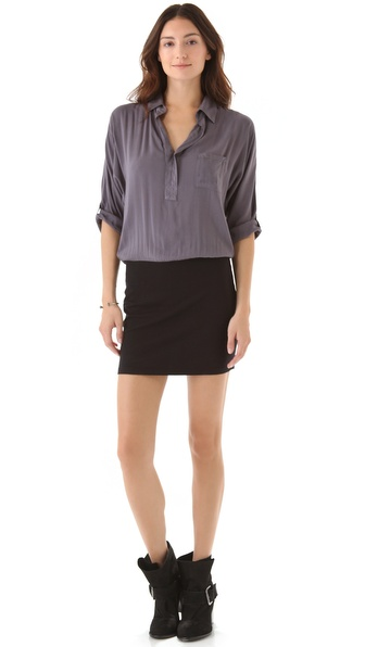 Splendid One Pocket Henley Dress