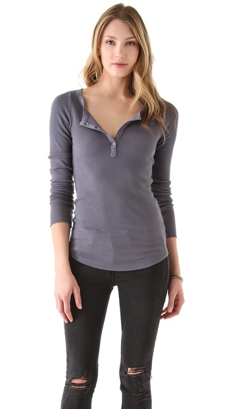 Splendid Long Sleeve Henley