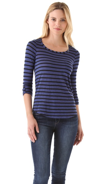 Splendid Black Venice Striped Tee